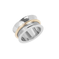 large minimal stainless steel ring women bague acier inox femme MIA T319R005