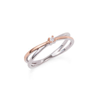 engagement stainless steel ring women bague acier inox femme MIA T319R003