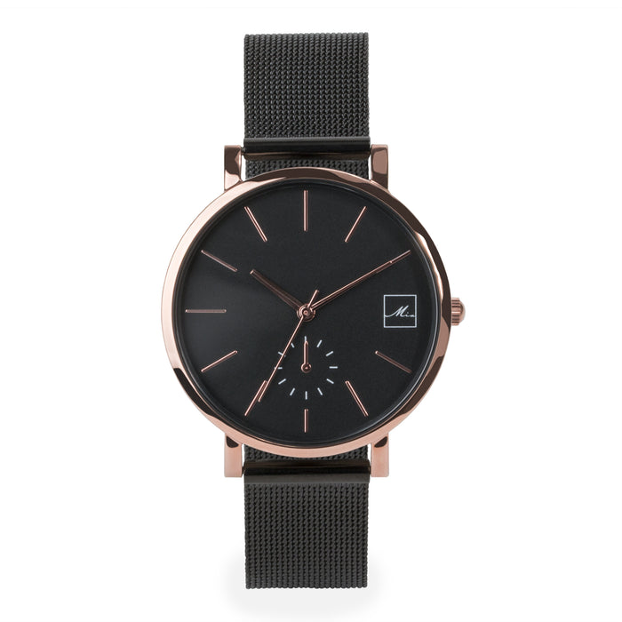 watch-women-black-rosegold-mesh-bracelet-stainless-steel-W317M02-MIA
