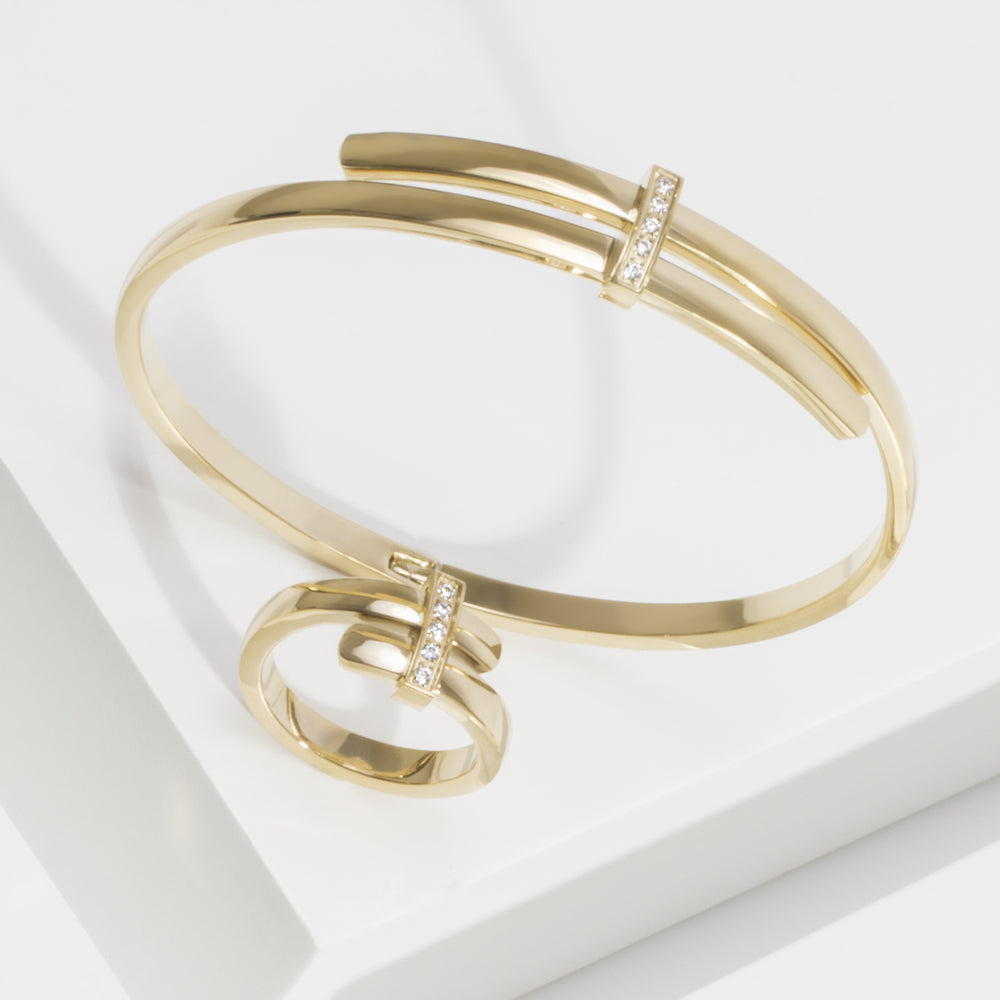 gold bangle bracelet JOELLE X MIA