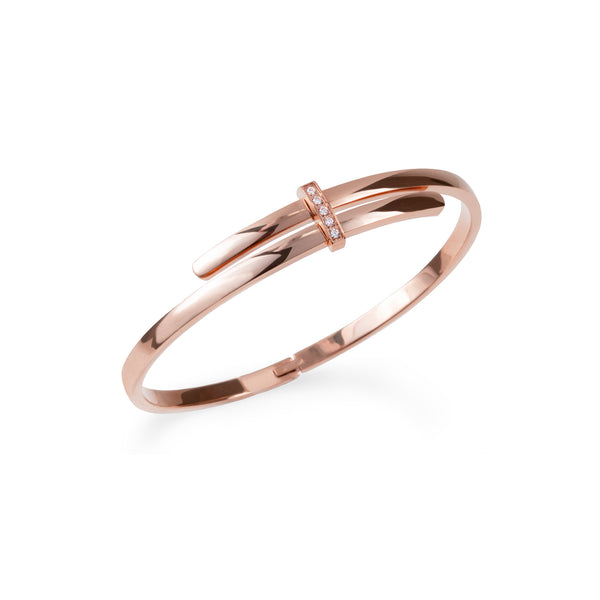 rose gold bangle bracelet JOELLE X MIA