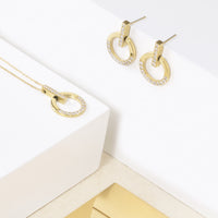 hypoallergenic rose gold earrings with stones T418E004DORO MIA