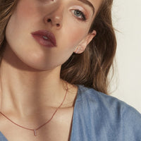 minimal bar earrings necklace JOELLE X MIA