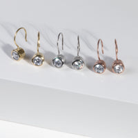gold stone hook earrings stainless steel T318E001DO MIAJWL