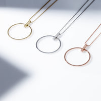 circle long necklace for women