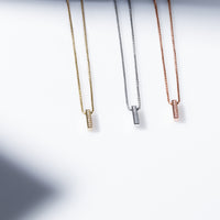 minimal bar pendant necklace hypoallergenic