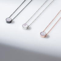 mother of pearl minimal necklace for women