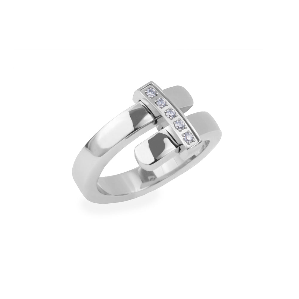 silver ring stainless steel joelle mia
