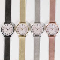 minimal classic gold watch women