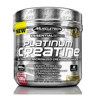 MuscleTech 100% Platinum Micronized Creatine