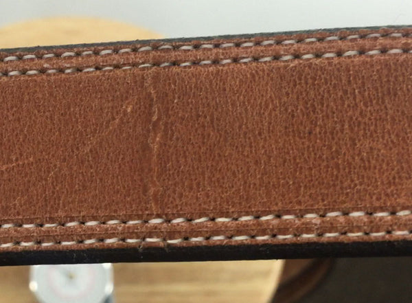 Natural scars are a sign of the real deal! True Full Grain Leather.