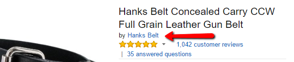 Hanks Belts Amazon Authenticity