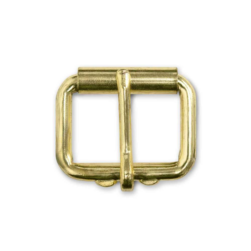"Hanks Belts 1 1/4"" Roller Buckle - Brass"