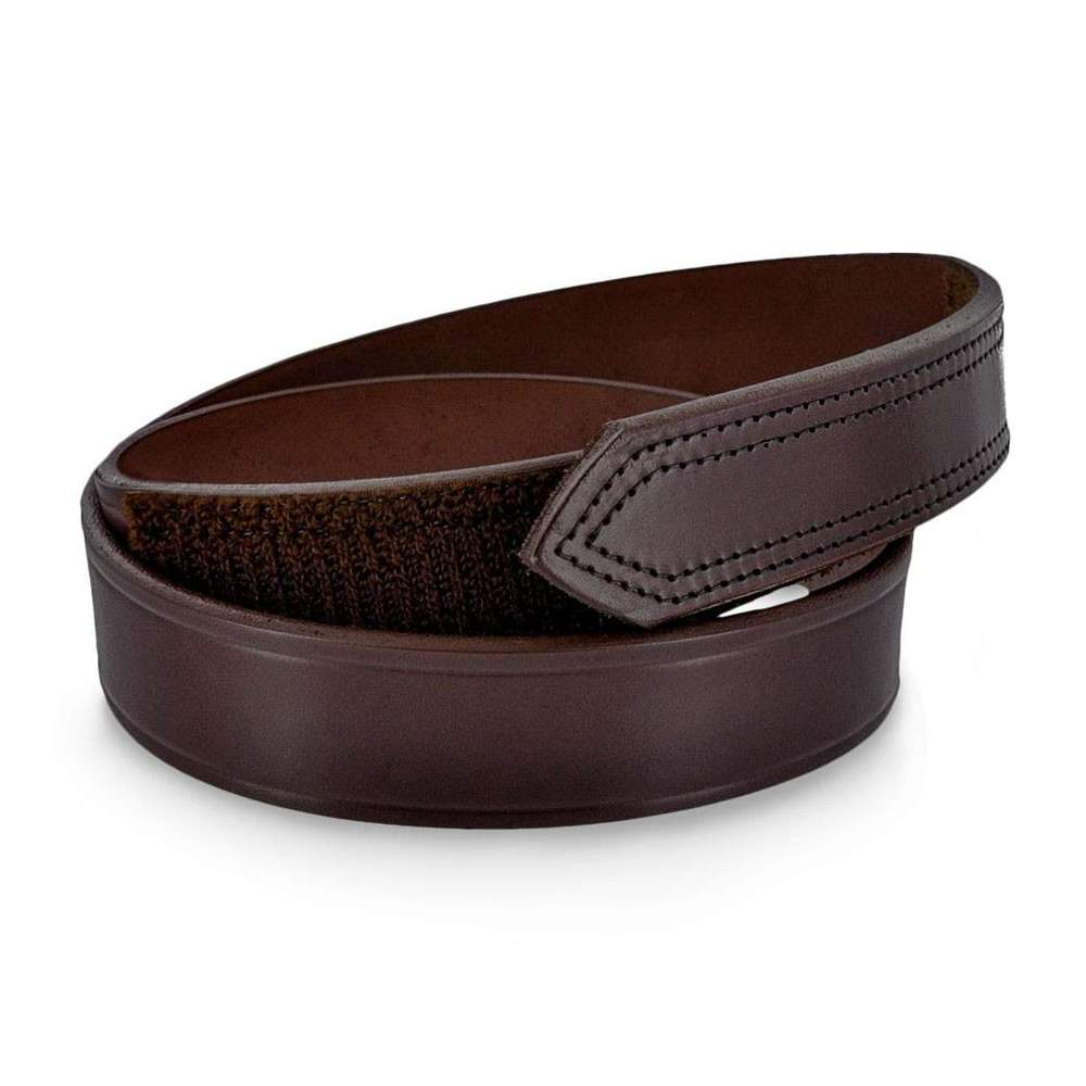 Scratchless Mechanics Belt With Hook and Loop Closure - Brown
