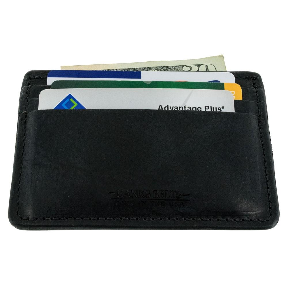 Hanks Belts Three Tier Front Pocket Wallet in Black