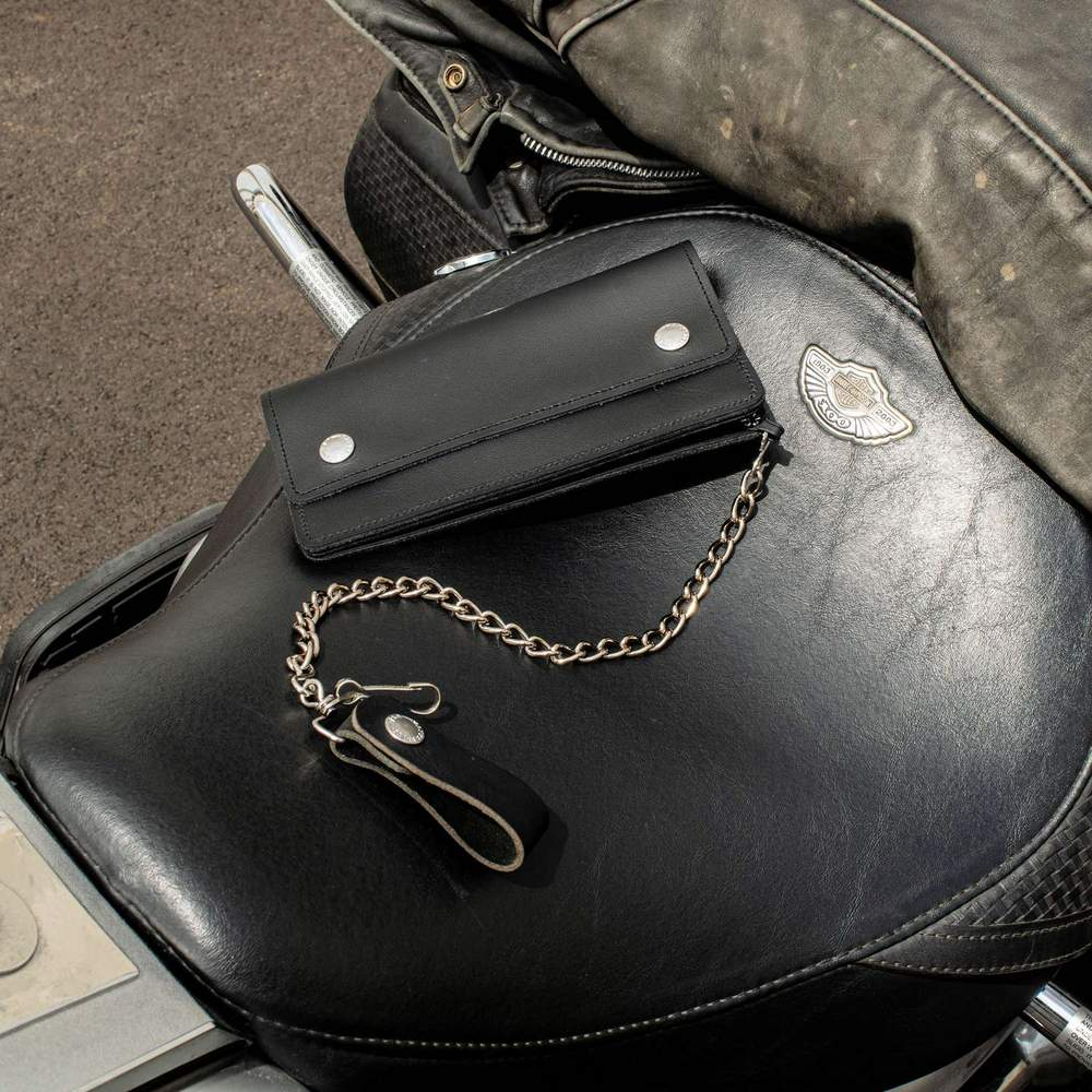 Hanks Biker Wallet - Black
