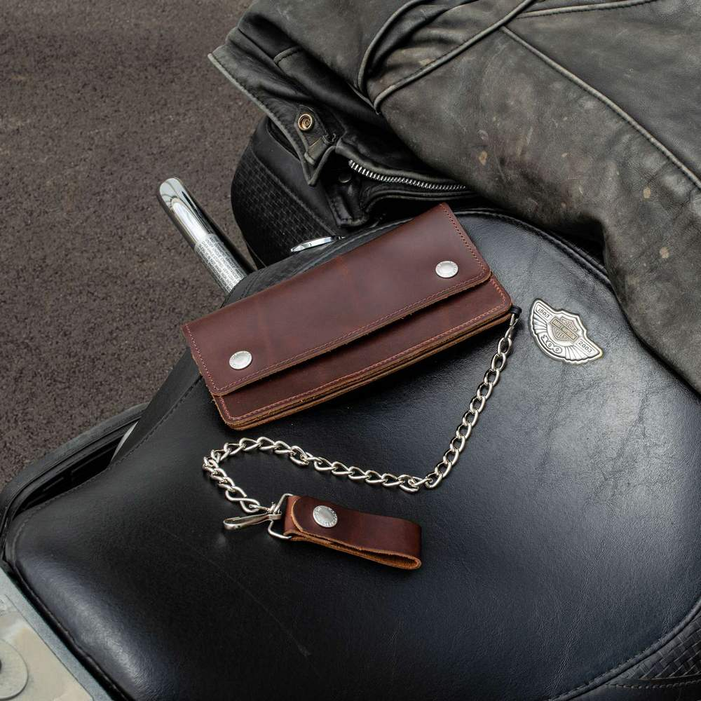 Hanks Biker Wallet - Buck Brown