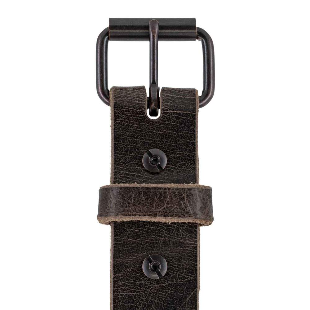 Rustic Belt in Chocolate Brown