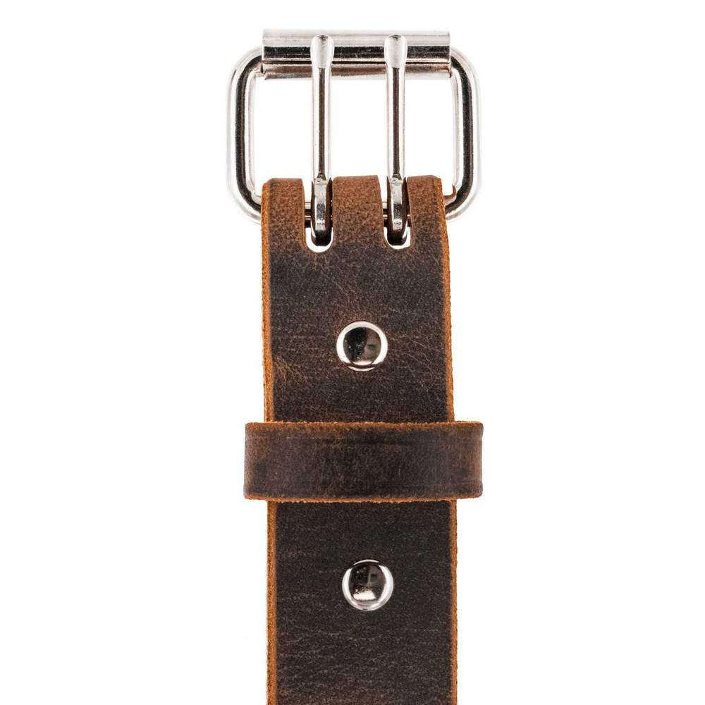 The Legend Double Prong Retro Jean Belt - Brown