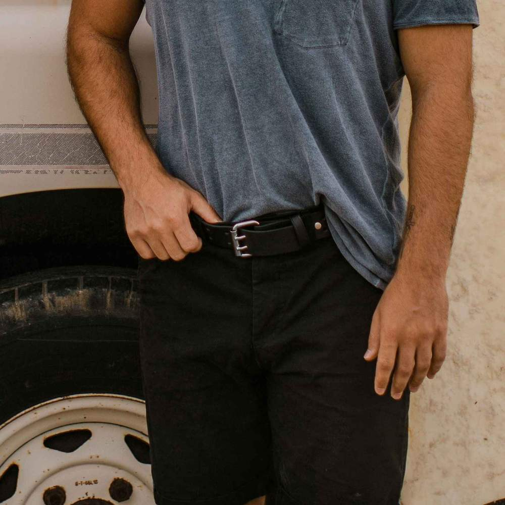 The Woodstock Retro Jean Belt - Black