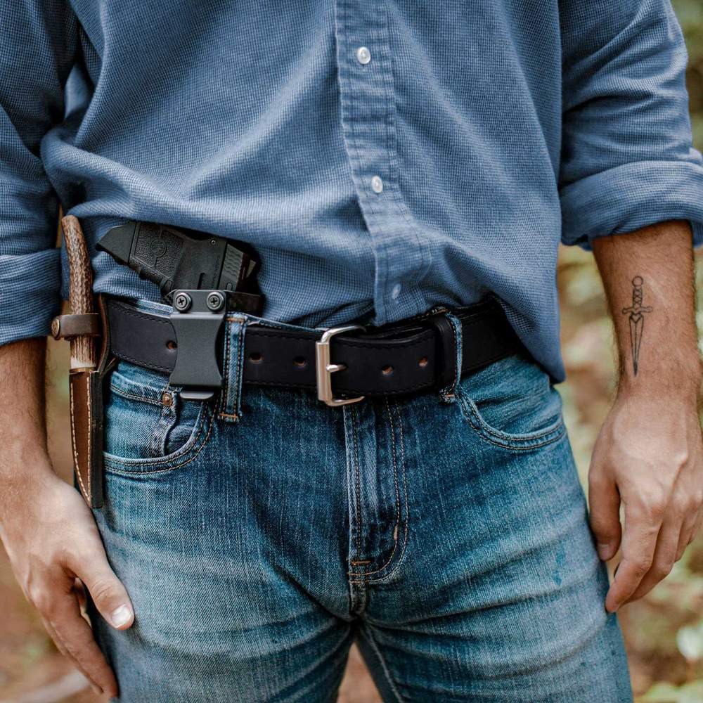 Hanks Gunner Stitched - Hanks USA Made CCW Gun Belts Black