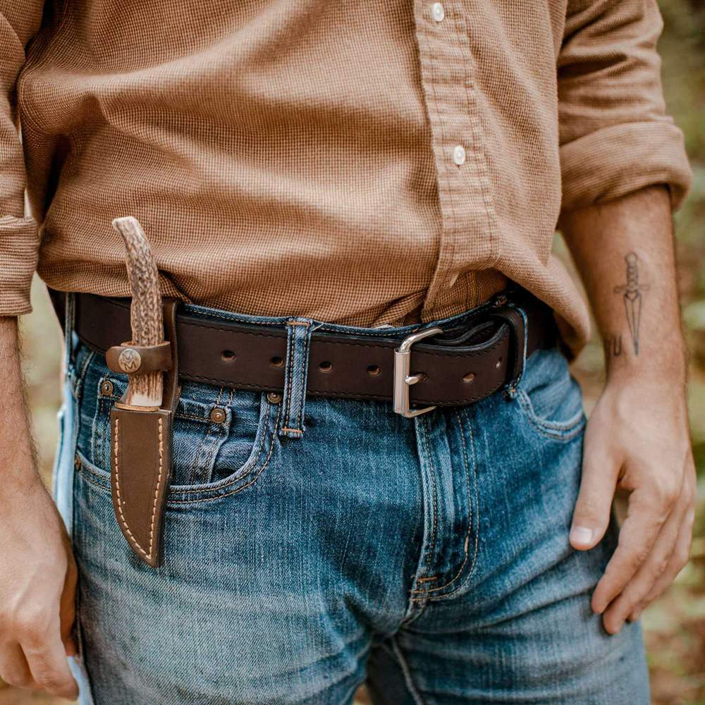 Hanks Gunner Stitched - Hanks USA Made CCW Gun Belts Brown