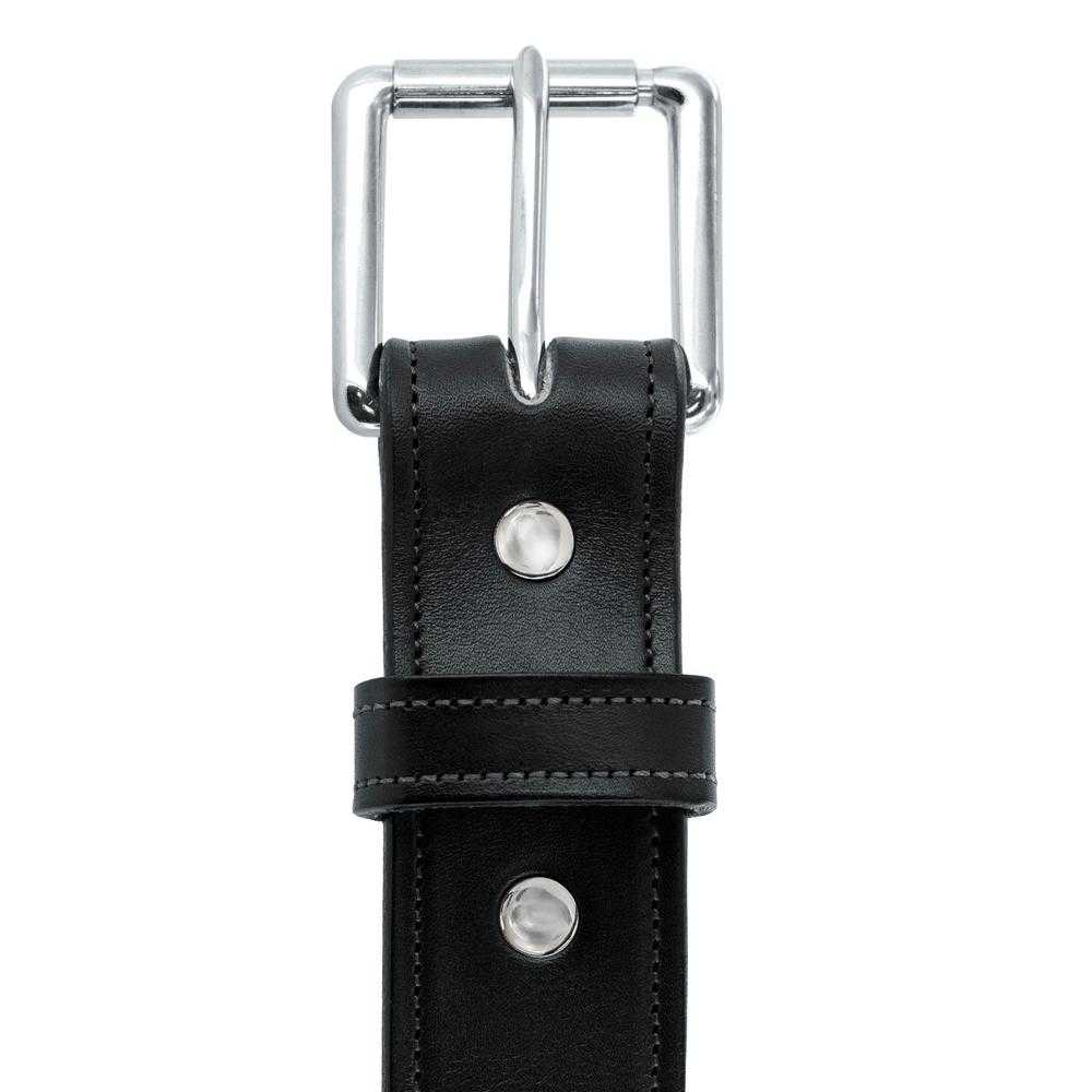 Hanks Belts Premium Bridle Leather Canyon belt in Black.