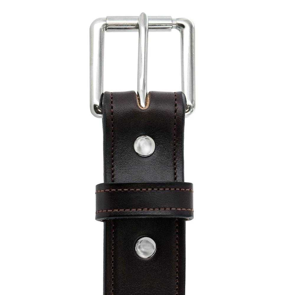 Hanks Belts Premium Bridle Leather Canyon belt in Havana.