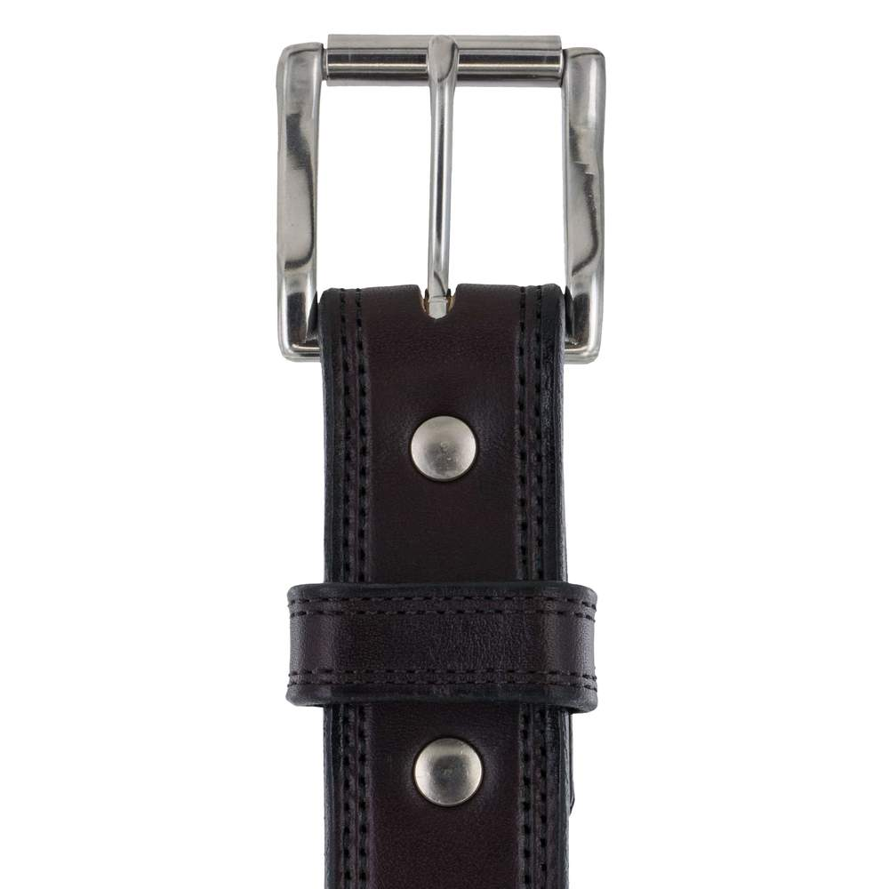 The Brute Double Layer 17oz Belt - Midnight Brown