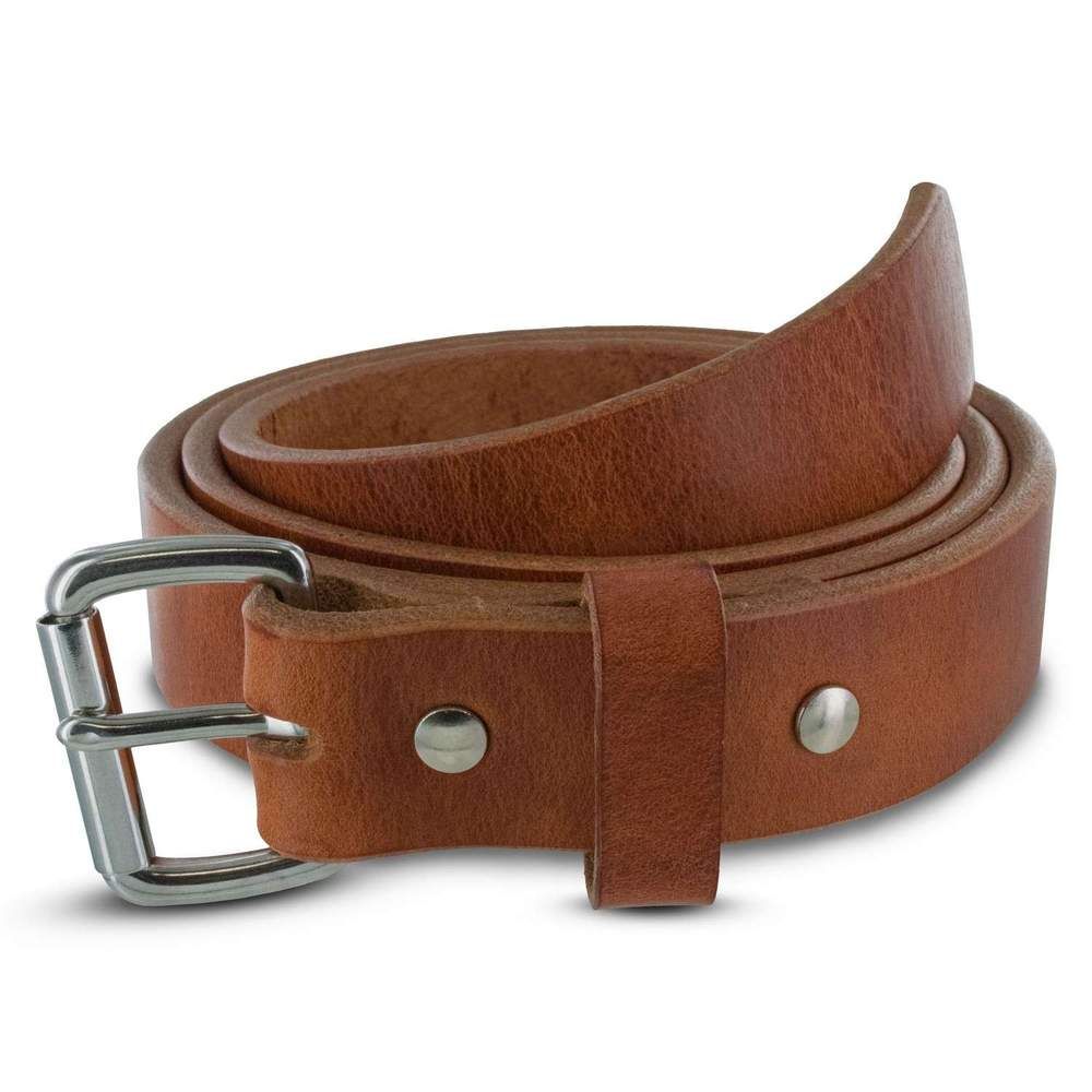Hanks Old World Harness Belt - Hanks USA Made CCW Gun Belts -Raw Edge Retro Tan
