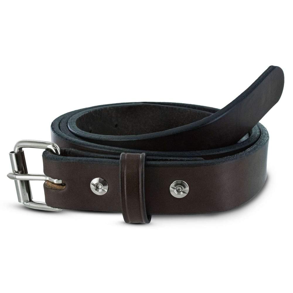 "Hanks Brown Deputy Belt - 1 1/4"" Width - Hanks USA Made CCW Gun Belts."