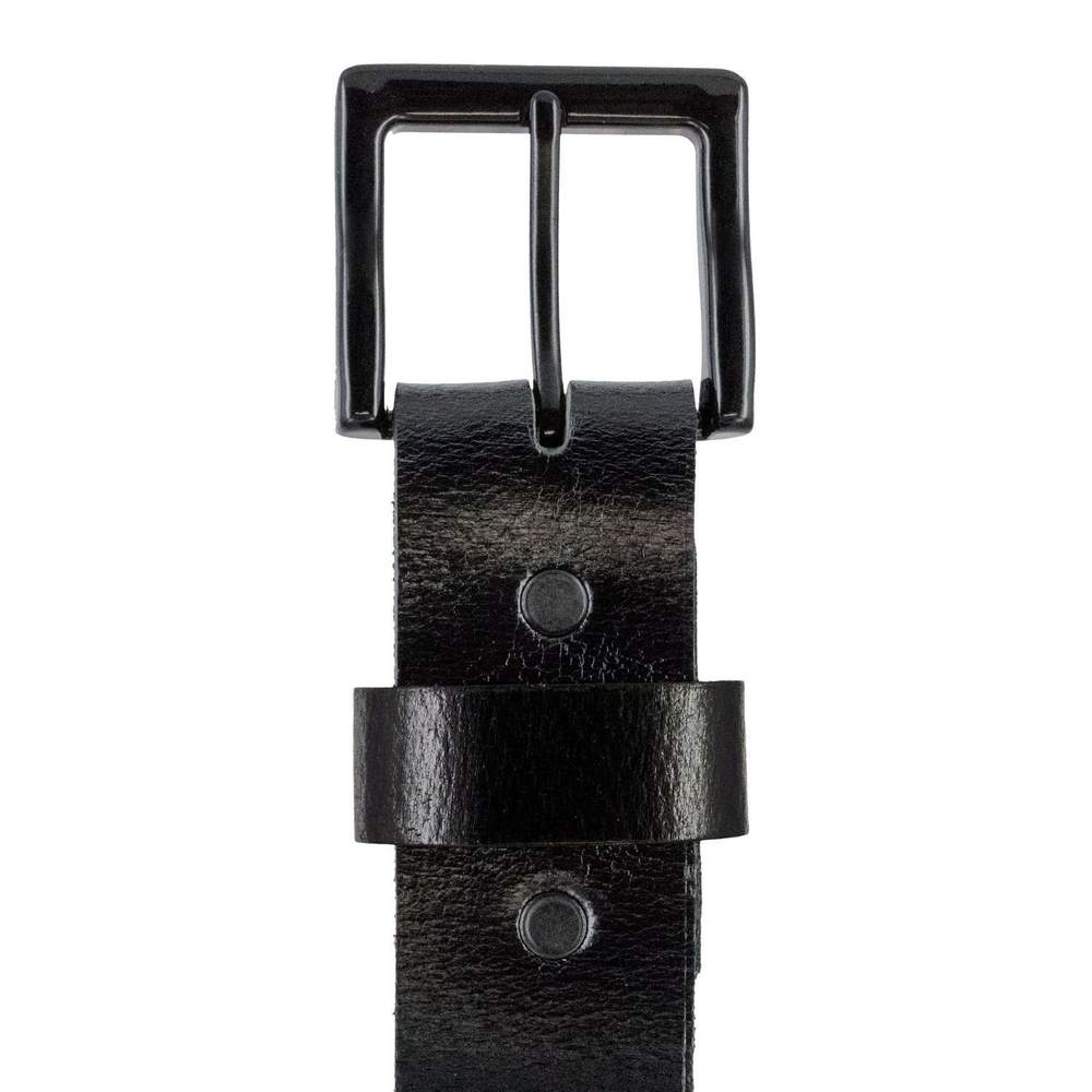 Hanks T-Bone Casual Belt in Black