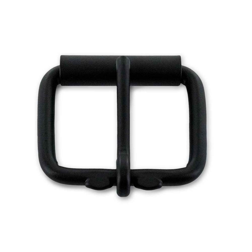 Powder Coated Black Roller Buckle - Black