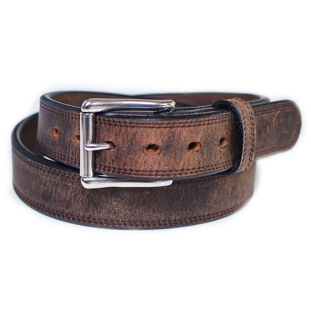 Double Bison Belt - Brown
