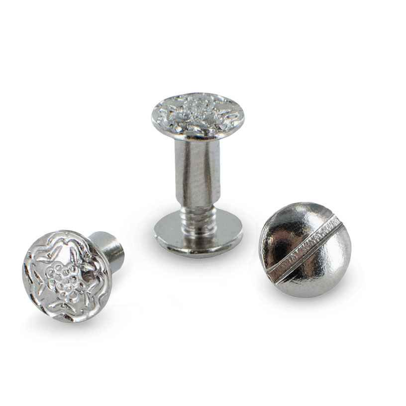 "Floral Embossed 3/8"" Chicago Screws"