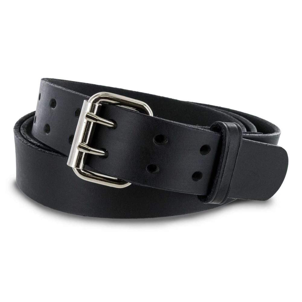 The Legend Double Prong Retro Jean Belt - Black