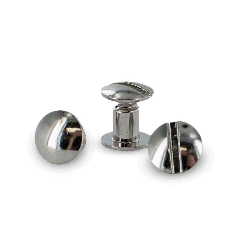 "1/4"" Nickel Plated Chicago Screws Replacement 2 pack"
