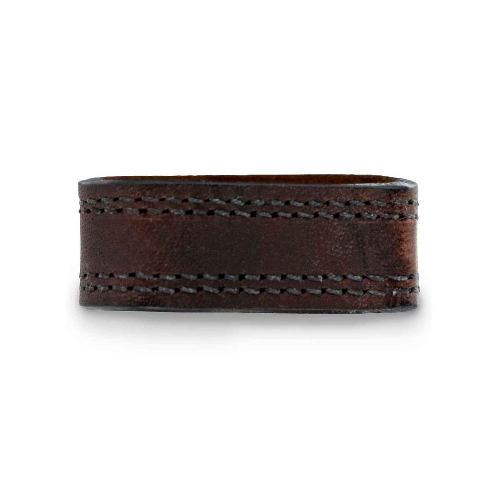 Old World Harness Belt Keeper Refined Rich Brown