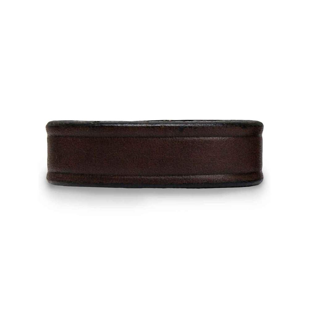 "Hanks Extra Belt Keepers for 1 1/2"" Wide Belts in Brown."