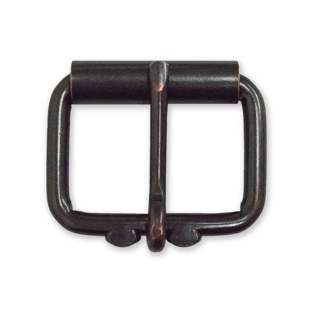 "Hanks 1 1/2"" Distressed Bronze Roller Buckle"