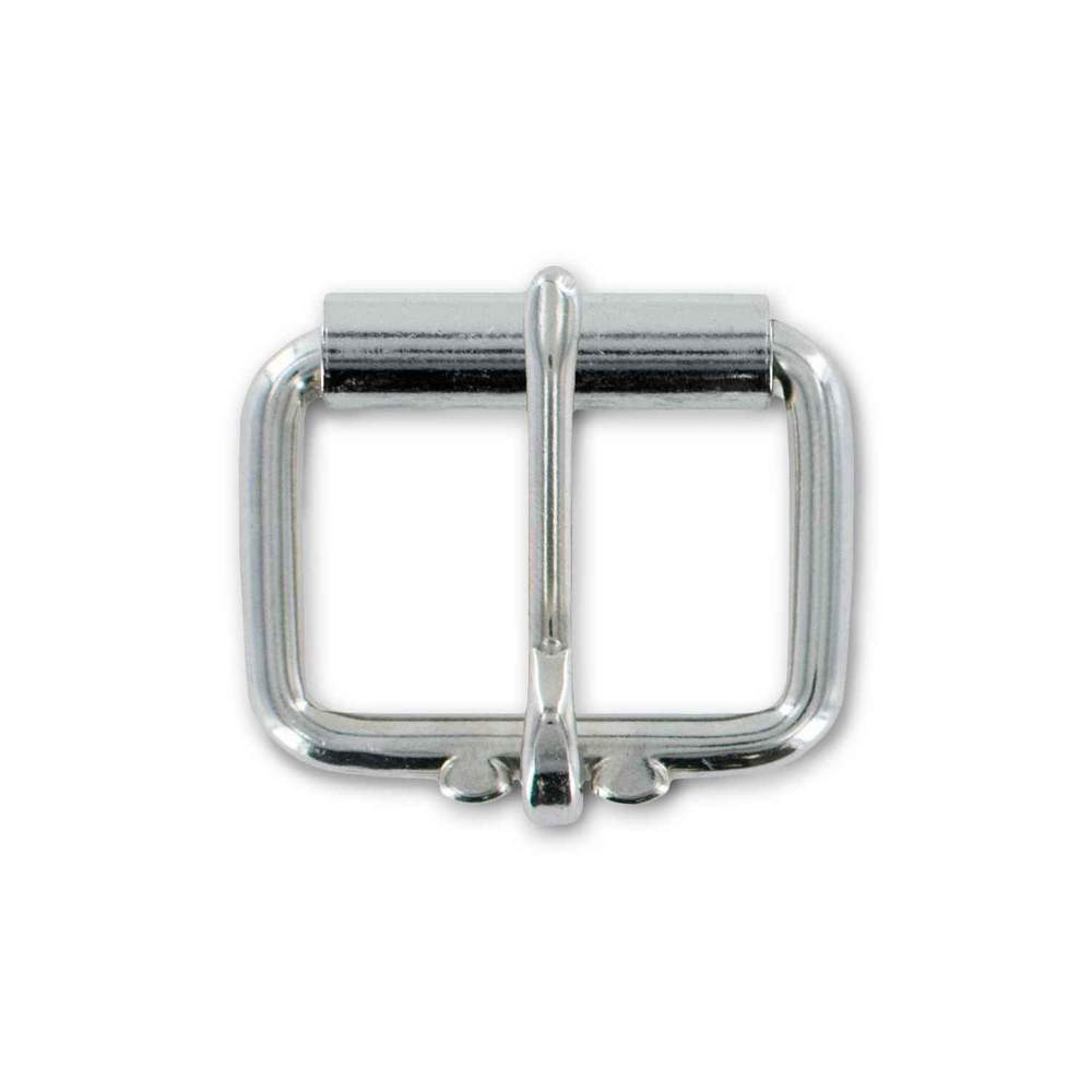 "Hanks 1 1/4"" Roller Buckle In Silver - Hanks USA Made CCW Gun Belts"