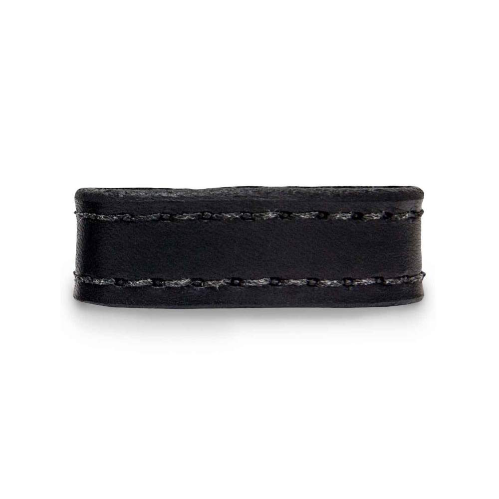 "Hanks Decorative Stitched 1.5"" Keeper in Black Fits all 1/2"" Width Belts"