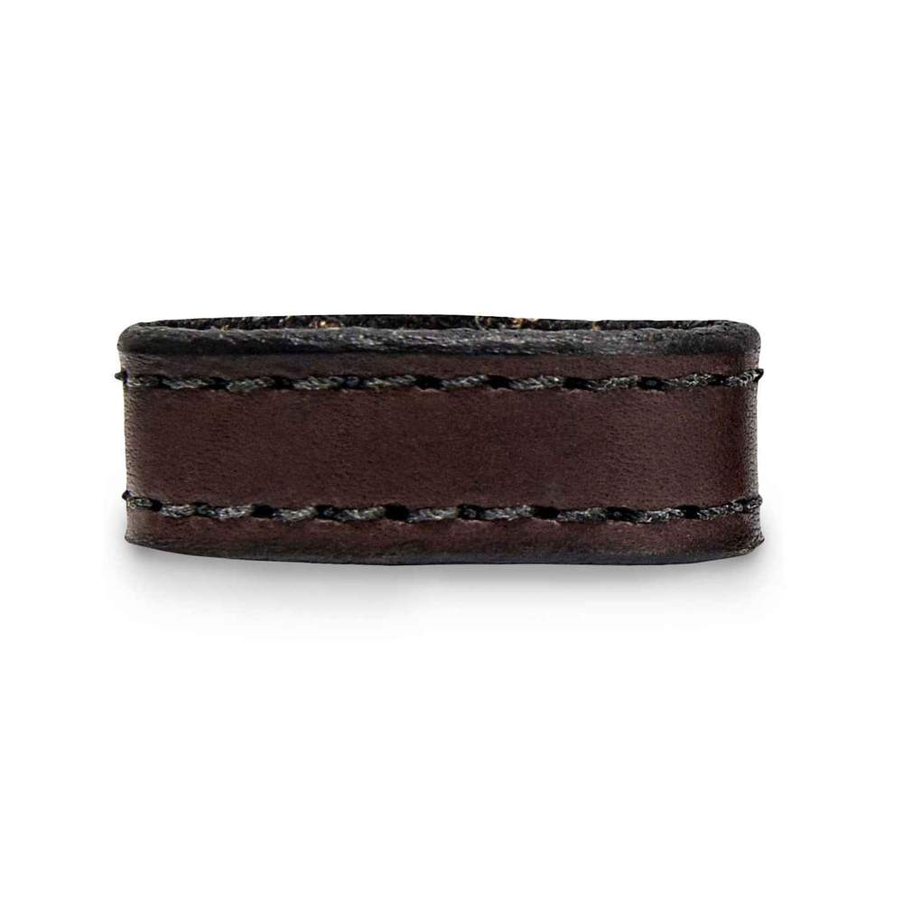 "Hanks Decorative Stitched 1.5"" Keeper in Brown Fits all 1/2"" Width Belts"
