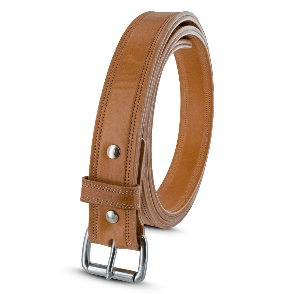ouble Leather Belt - Hanks USA Made CCW Gun Belts In Butter