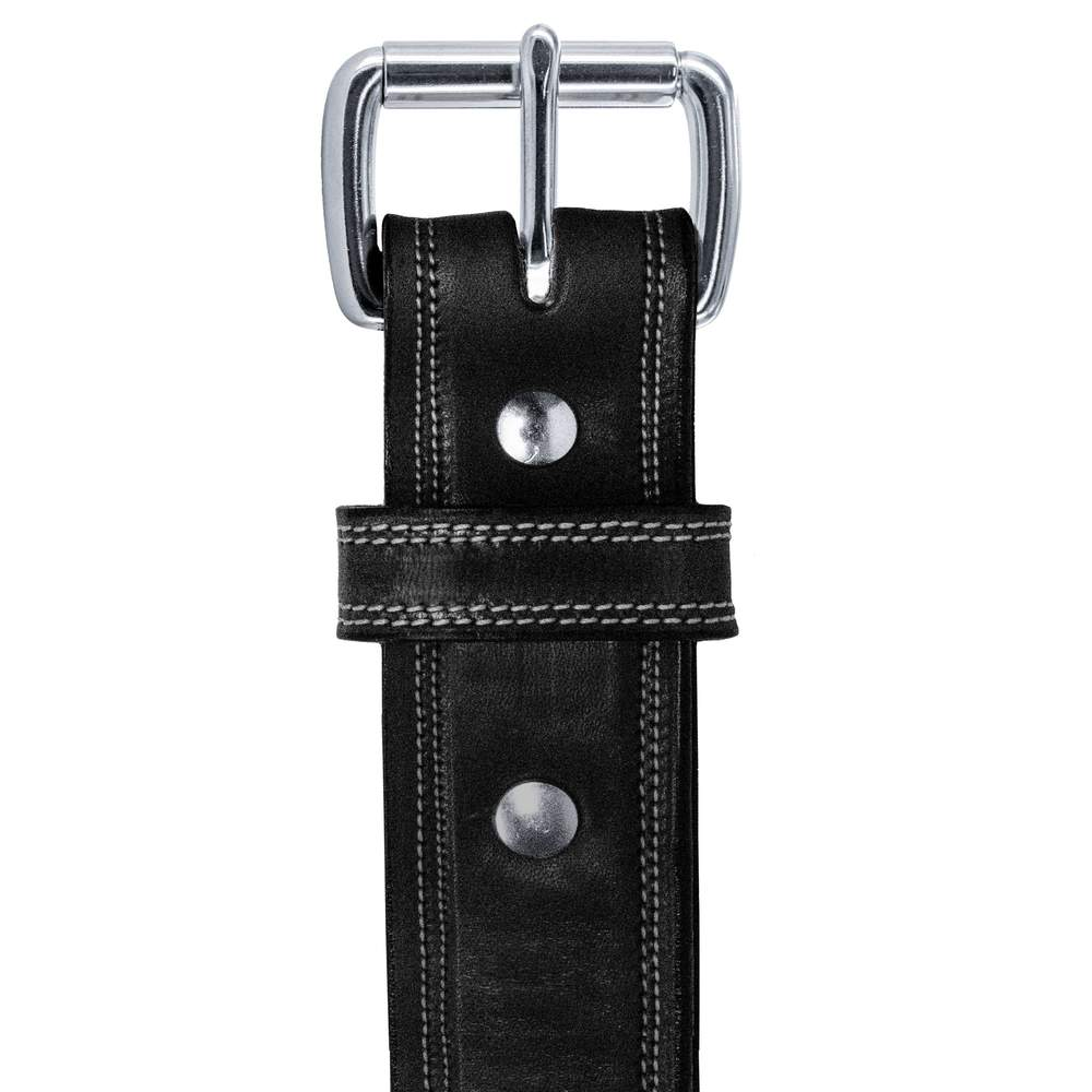 Hanks Premium Double Leather Belt - Hanks USA Made CCW Gun Belts In Bristol Black