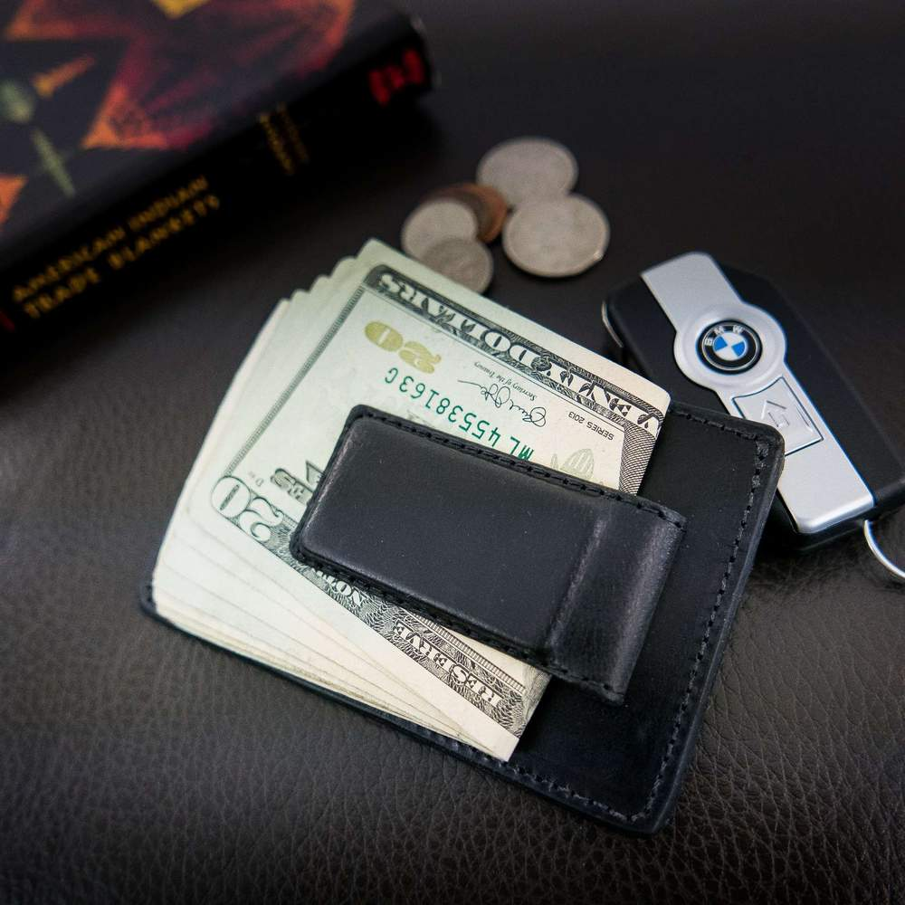 USA Made Magnetic Money Clip - Black