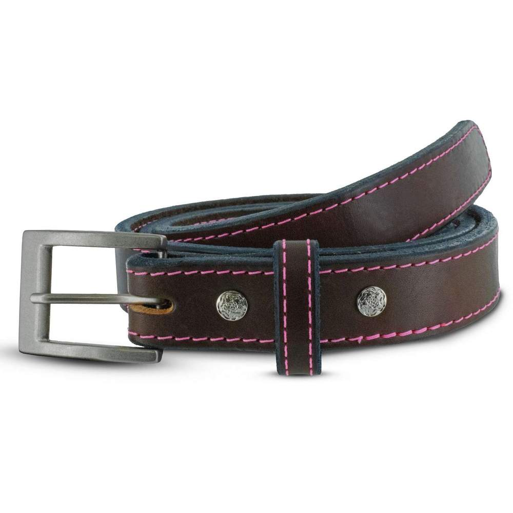 Women's CCW Gun Belt - Brown Pink Stitching