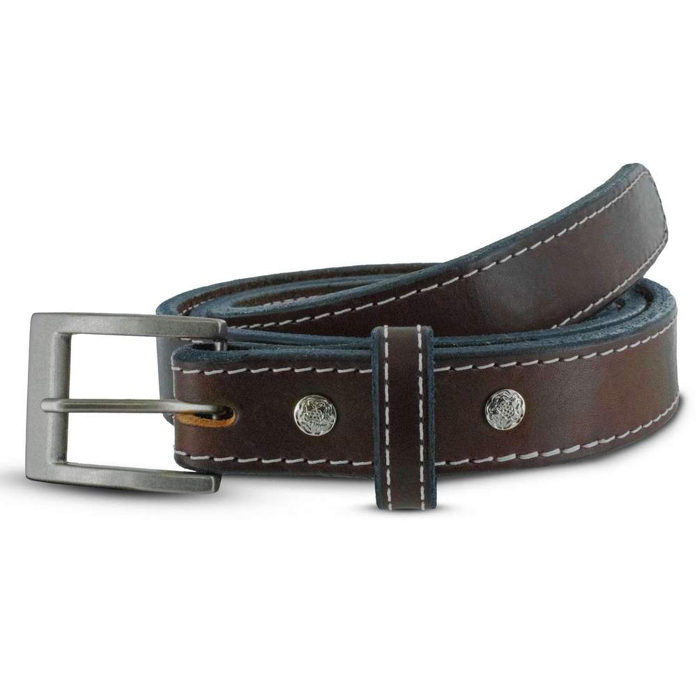 Bonnie CCW Gun Belt - Brown White Stitching