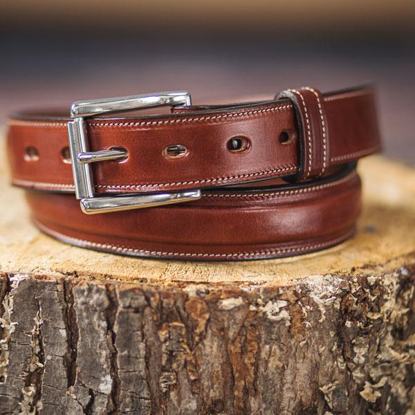 New Handmade Strong High Quality Full Real Leather Jeans Trouser Belt Made In UK