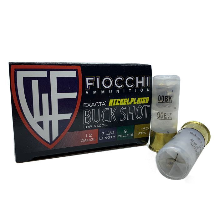Fiocchi 12g Low Recoil Nickel Plated Buckshot